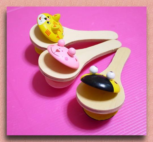 可爱的动物造型饭匙响板拍(单只报价)